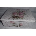 Krabička na čaj, šperkovnica  ruže