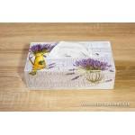 Krabičky na kozmetické vreckovky - levanduľa vázy
