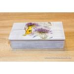 Krabička na čaj, šperkovnica 8-priehradková- levanduľa vázy