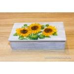 Krabička na čaj, šperkovnica 8-priehradková- slnečnice