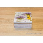 Krabička na čaj - levanduľa vázy