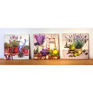 Obrazy bez rámu-séria levanduľové zátišia