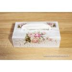 Krabičky na kozmetické vreckovky - ruže